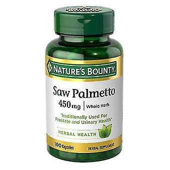 Nature's Bounty Saw Palmetto, 450 mg, 24 X 100 Caps