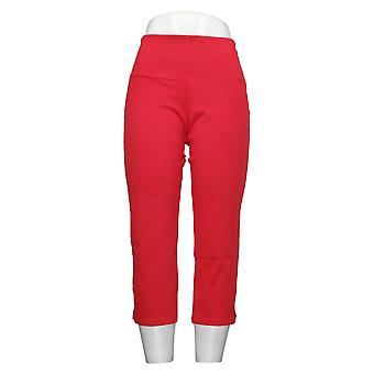 Kvinder med kontrol Kvinders Petite Jeans Mave Control Prime Crop Red A306461