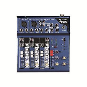 TEYUN KT-401USB Audio Mixing Console 48V Phantom Powerilla DJ Karaoke Stagelle