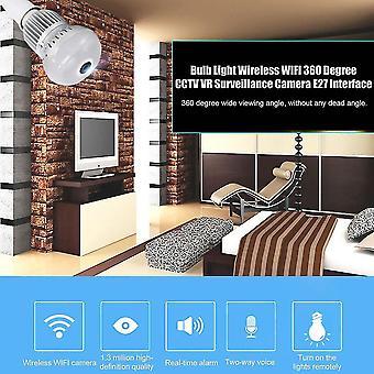Lâmpada de luz wireless Wifi 360 Graus CCTV Vr Câmera de Vigilância Interface E27