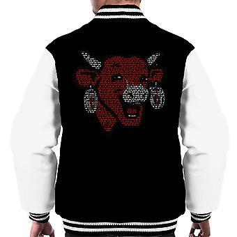 The Laughing Cow La Vache Qui Rit Outline Men's Varsity Jacket
