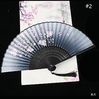 Chinesische Vintage Stil Falten Fan Kunst Handwerk Geschenk Tanz Hand Fan Home Decoration Ornamente(#2)