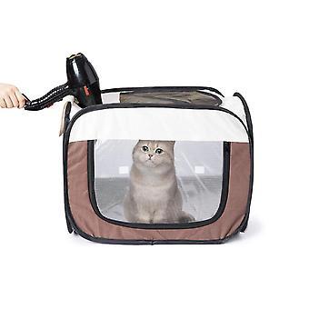 Caja de secado para mascotas plegable Habitación seca Aseo Casa Baño de mascotas Secador de pelo Jaula (70cmx48cmx60cm)