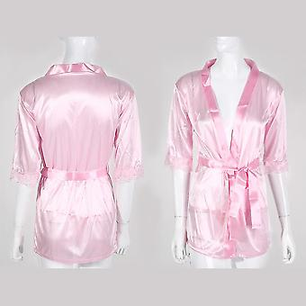 Γυναίκες Σατέν Δαντέλα Μετάξι Μαλακό Εσώρουχο Εσώρουχα Νυχτικό Sleepwear Ρόμπα