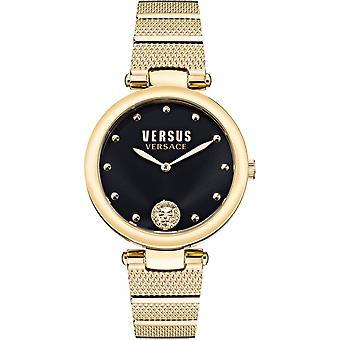 Versace VSP1G0621 女子ロスフェリスゴールドトーンブレスレット腕時計