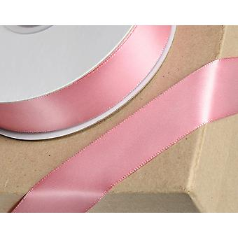 25m Rose Pink 15mm Wide Satin Ribbon voor Ambachten