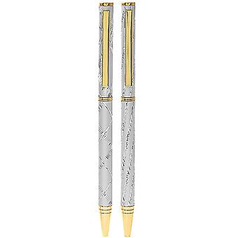 Ball Pen with Metallic Design - Gold or Silver - Cracker Filler Gift
