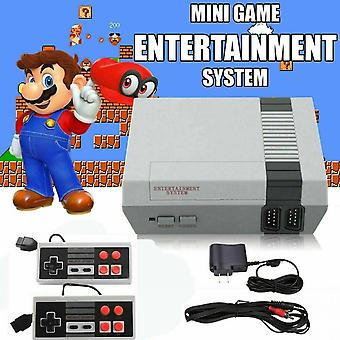 Game Console 620 Built-in Mini Classic Nes Games W/ 2 Controllers Retro Kid Gift