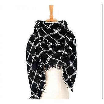 Cashmere Double-sided Color Plaid Scarf Lady Shawl(S3)