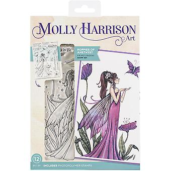 Crafter's Companion Photopolymer Stamps By Molly Harrison - Poppies Of Amethys