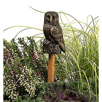 Cane Companions Decorative Barn Owl Cane or Stake Topper Antique Bronze Color
