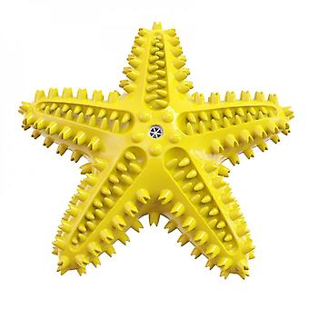 Pet Molar Toy Starfish Shape Squeaky Dog Toothbrush Outdoor Interactive Training Puzzle Dental Teeth Cleaning