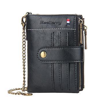 Módní peněženky kapesní držák kreditní karty (černý)