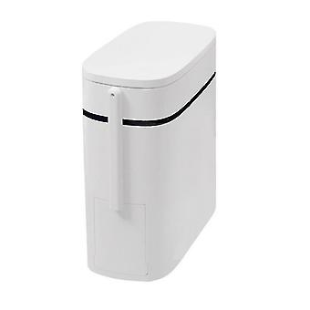 Trash cans wastebaskets homemiyn waterproof and odor-resistant push-type trash can 14l special for toilet with toilet brush
