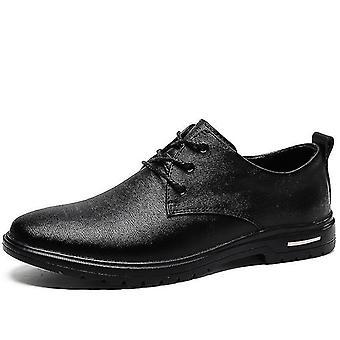 Mcikcara Herren Derby Schuhe Leder 7066(Us7/eu40)(Schwarz)