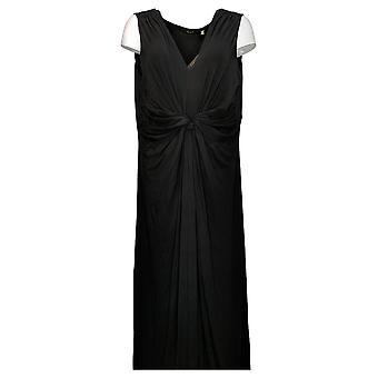 IMAN Global Chic Women's Dress Petite Flawless Knit Maxi Black 751382