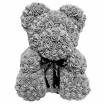 """25 ס""""מ פרח דוב יפה דובי אוהבי מתנה חתונה רוז דוב דובי"""