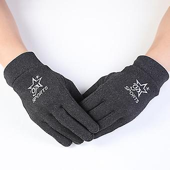 Männer Reise Touchscreen Kältedichte Handschuhe Dunkel Hanf Grau