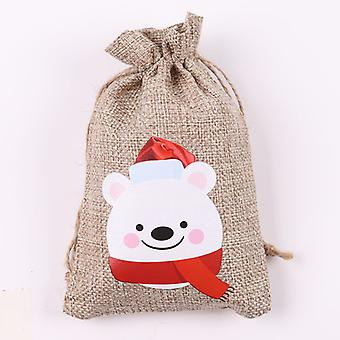 クリスマスリネンギフトバッグクリスマスギフトの装飾小布バッグキャンディチョコレート包装袋