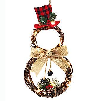 Joulu lumiukko koti oven seppele joulu seinä seinä garland roikkuu sisustus