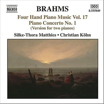 J. Brahms - Brahms: Fire hånd pianomusikk, Vol. 17 [DVD] USA import