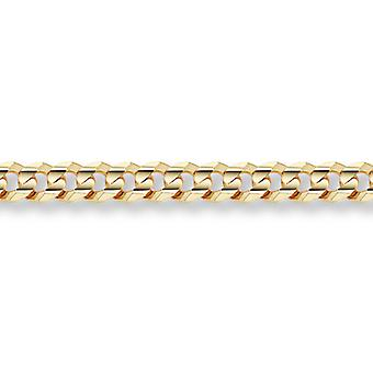 14K guld 10,5 mm Curb armband
