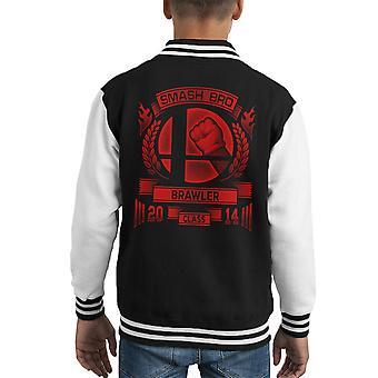 Smash Bro Brawler Mario Kid Varsity Jacket