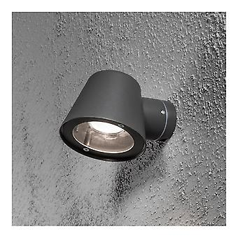 Konstsmide Trieste Black Saucer Down Wall Light