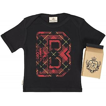 Die Qual der faulen B Big Brother Babys T-Shirt 100 % Bio In Milchtüte