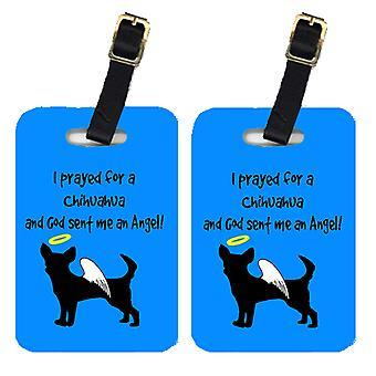 Carolines Treasures  AN1086BT Pair of 2 Chihuahua Luggage Tags