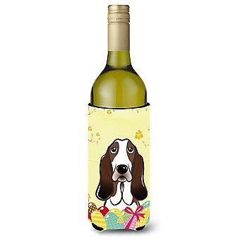 Basset Hound Easter Egg Hunt vinho garrafa bebida isolador Hugger