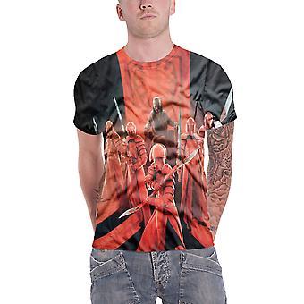 Star Wars T Shirt Snokes prætoriansk vagter Allover officielle Herre hvide sub farvestof