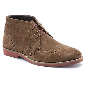 Red Tape Foxhill Brown Suede Mens Brogue Desert Boots
