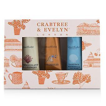 Crabtree & amp; Evelyn cel mai vandut hand terapie set (1X Caraibe Island flori sălbatice 1X grădinari 1X la Source)-3x25g/0.9 oz