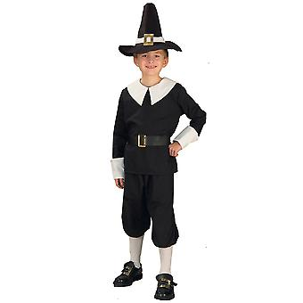 Pilgrim Colonial Olden Day Pioneer Historical Boys Costume