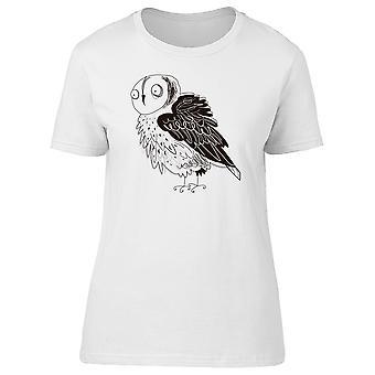 Hibou avec Black Wings Tee femmes-Image de Shutterstock