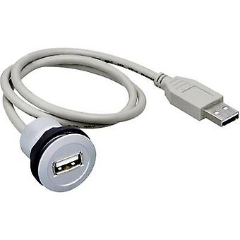 USB-mounted socket 2.0 type A Socket, built-in RRJ_USB_150CM Schlegel Content: 1 pc(s)