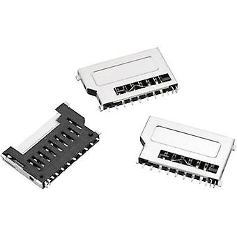 WR CRD SD-korttipaikka, työntää ja vetää lyhyt suunnittelu, kortti havaitsemiseen, 9-nastainen nastojen määrä: 9 Würth Elektronik sisältö: 1 PCs()