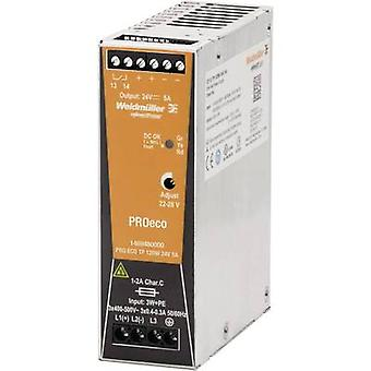 Weidmüller PRO ECO 120W 24V 5A Schienennetzteil (DIN) 24 V DC 5 A 120 W 1 x