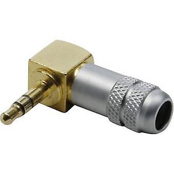 BKL électronique 1103084 3.5 mm prise d'entrée audio fiche, querre nombre de broches: 3 stéréo Gold 1 PC (s)
