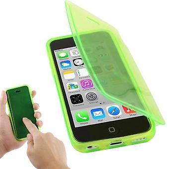Eloisa hylsy läppä horisontaalinen Fluorisoiva vihreä mobile iPhone 5 c