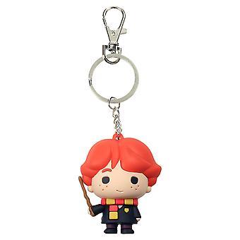 Harry Potter Ron Weasley Keychain stampato plastica, tra cui mini moschettone.