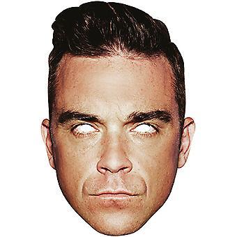 Robbie Williams Card Mask Superstar Pappmaske Karneval