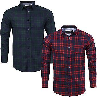 Brave Soul Mens Slater Long Sleeve Brushed Cotton Check Checked Lumberjack Shirt