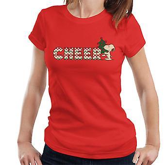 Peanuts Snoopy Christmas Cheer Women's T-Shirt