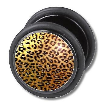 Cheater falso orelha Plug, brinco, joias de corpo, leopardo
