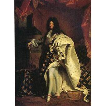 Louis XIV King of France, Hyacinthe Rigaud, 50x40cm