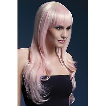 Πυρετός Σιένα περούκα ροζ ροζ Strand Γυναικείες περούκες