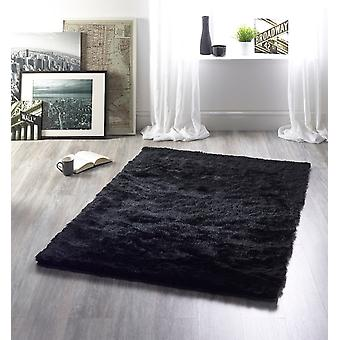 Shimmer Charcoal Rectangle Rugs Plaine / Presque Plaine Rugs