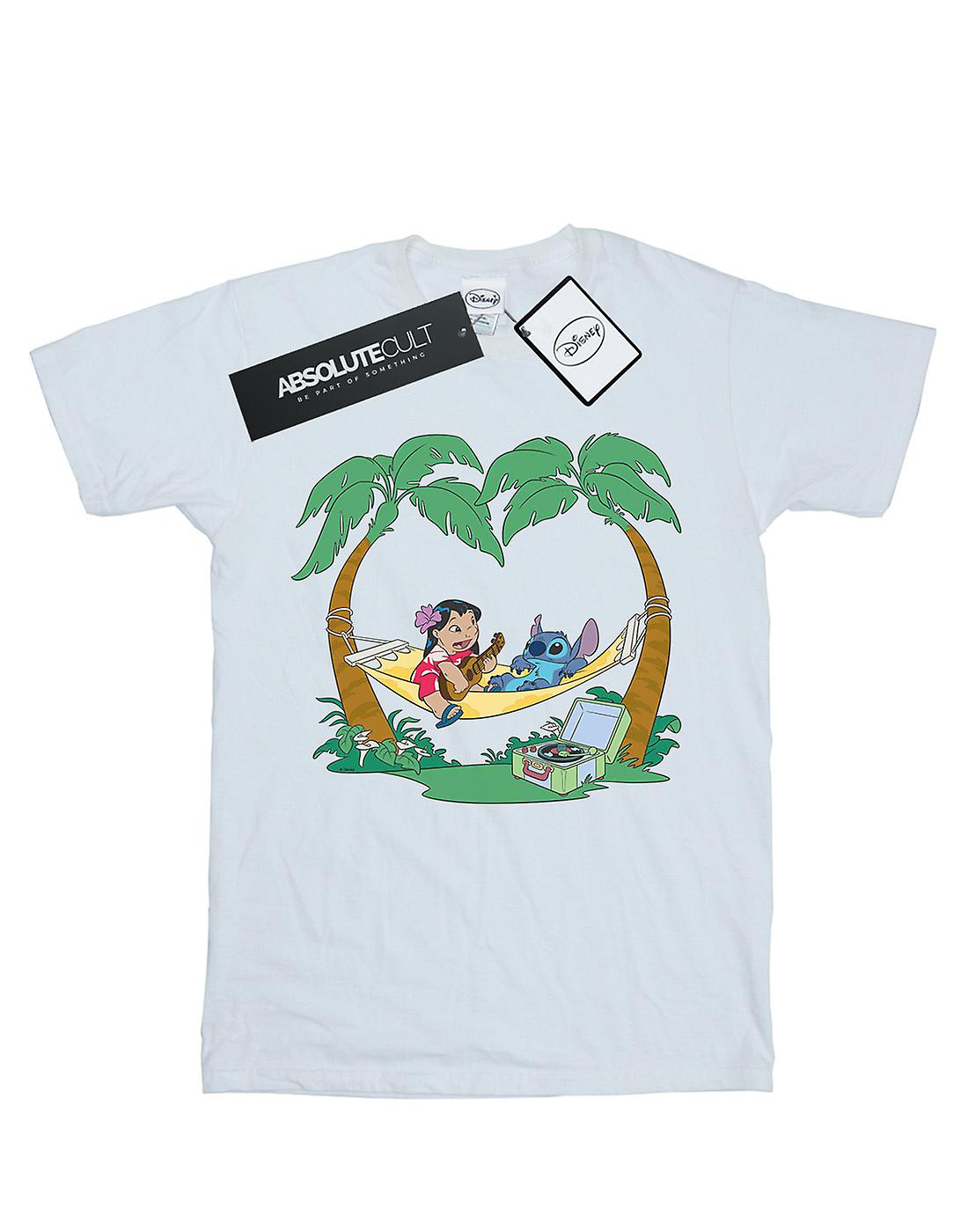Disney Women's Lilo And Stitch Play Some Music Boyfriend Fit T-Shirt